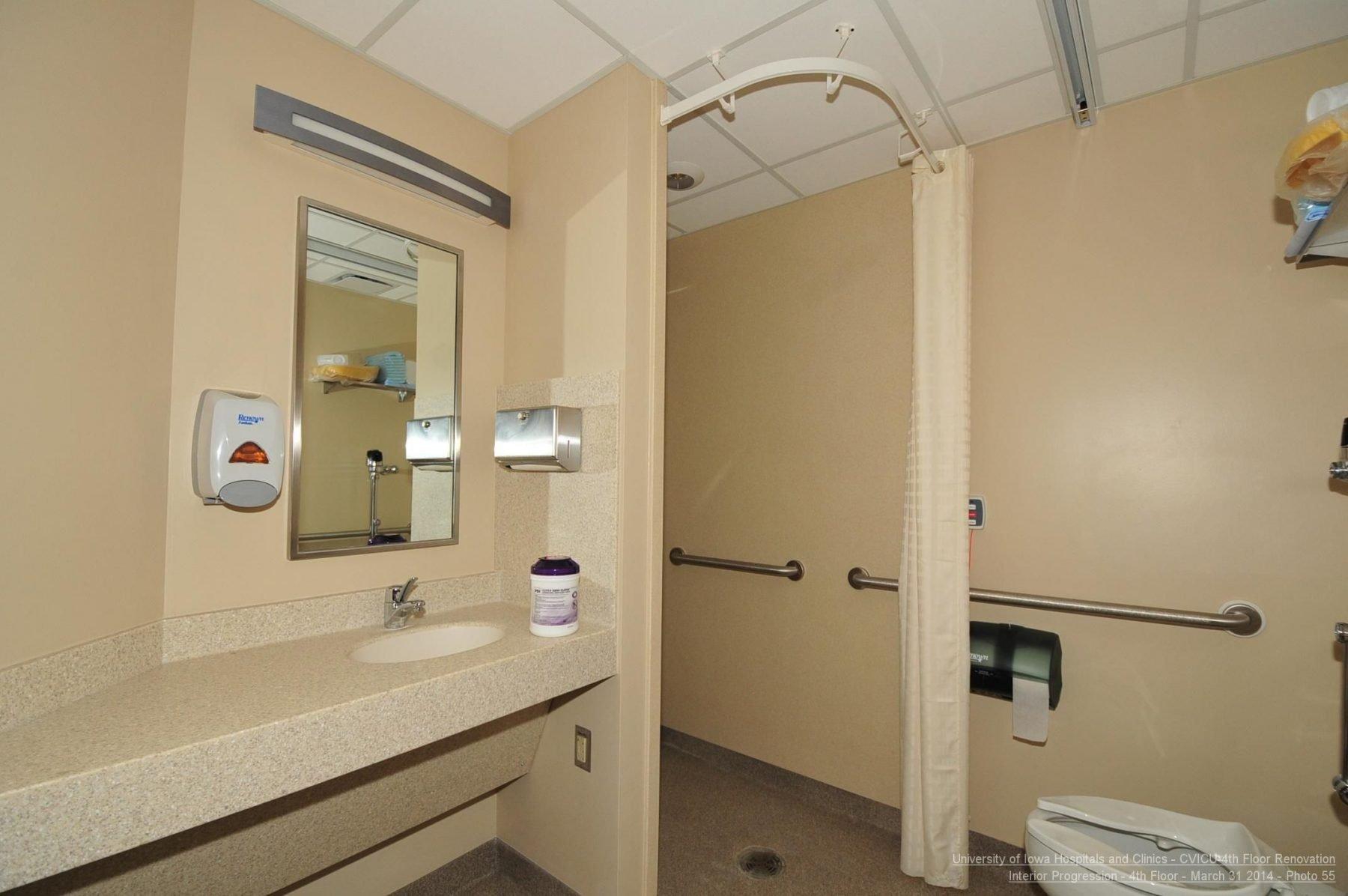 UIHC Cardio Vascular ICU Patient Restroom